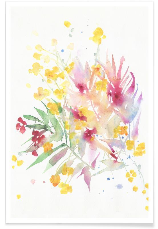 Fiori Watercolor.Fiori I Poster Juniqe