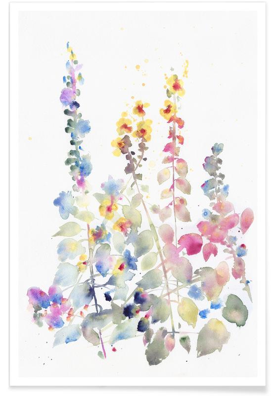 Fiori Watercolor.Fiori Ii Poster Juniqe
