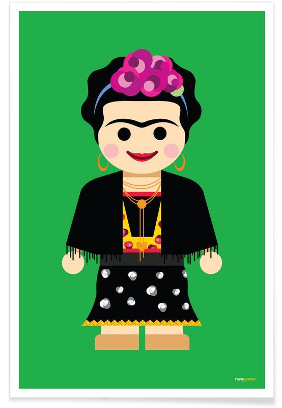 Kinderzimmer & Kunst für Kinder, Frida Kahlo, Frida Toy -Poster