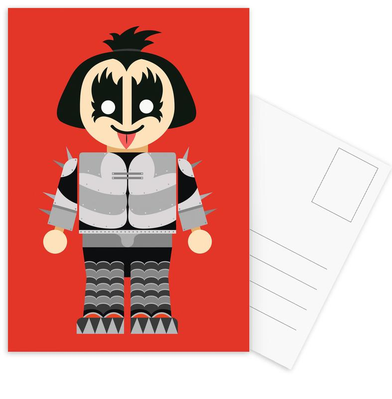 Gene Simmons Toy Postcard Set