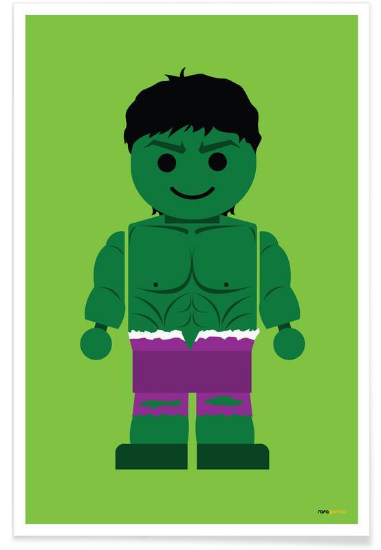Børneværelse & kunst for børn, Hulk Toy Plakat