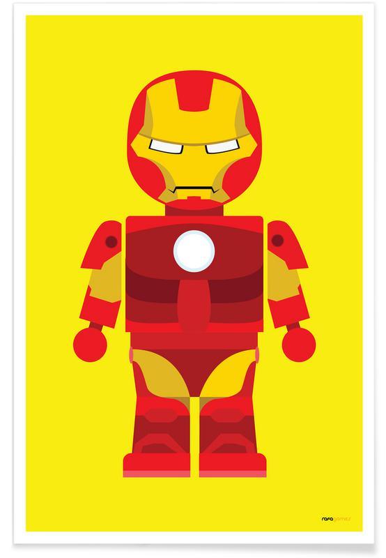 Iron Man, Børneværelse & kunst for børn, Iron Man Toy Plakat