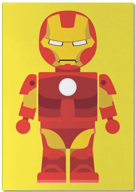 Iron Man, Kinderzimmer & Kunst für Kinder, Iron Man Toy -Notizblock