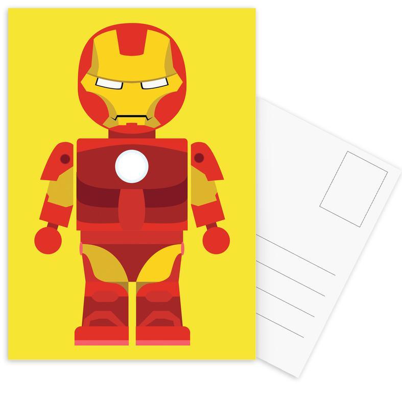 Iron Man, Nursery & Art for Kids, Iron Man Toy Postcard Set
