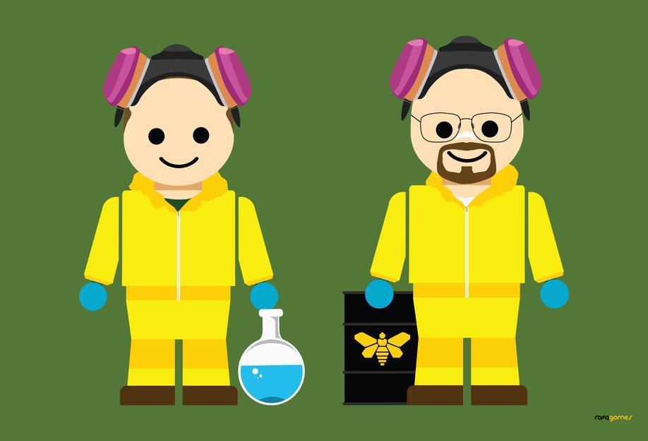 Pinkman and Heisenberg Toy alu dibond