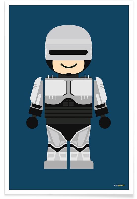 Kunst voor kinderen, Robocop Toy poster