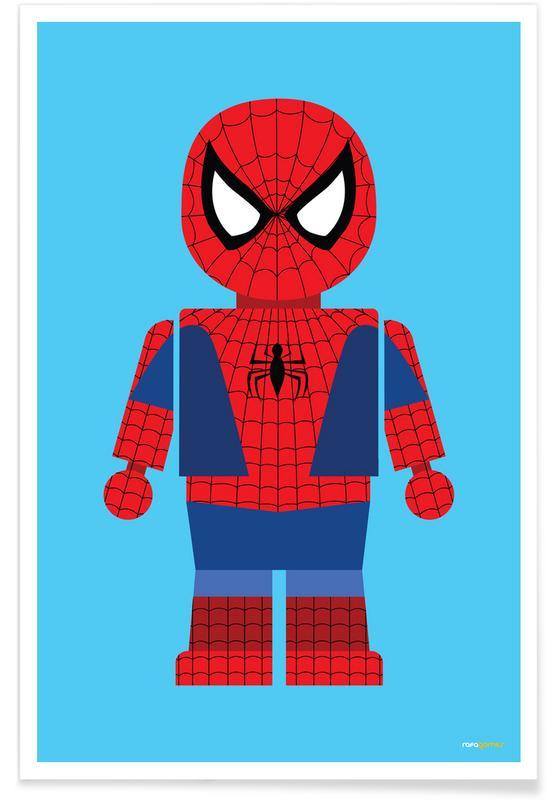 Børneværelse & kunst for børn, Spider-Man, Spiderman Toy Plakat
