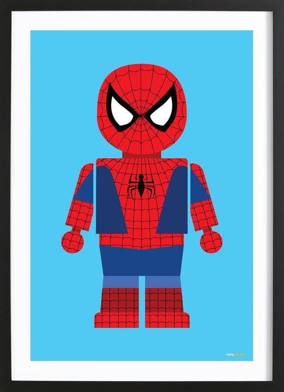 Spiderman Toy -Bild mit Holzrahmen