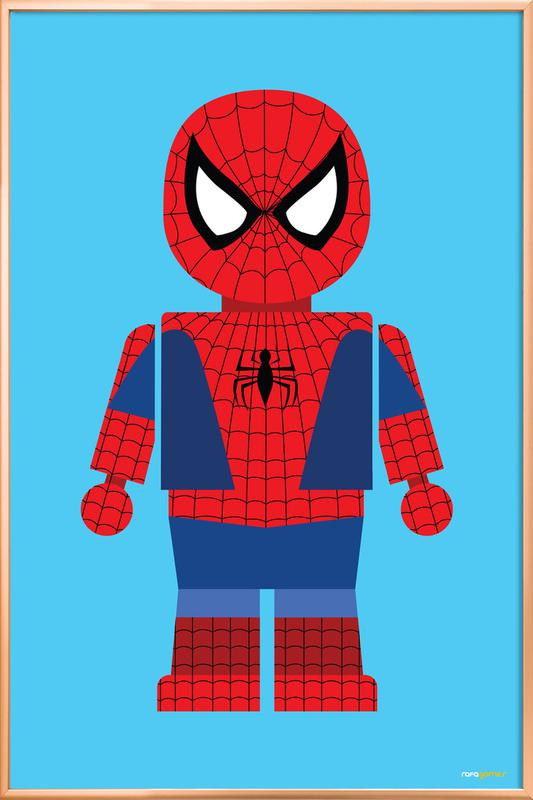 Spiderman Toy Poster in Aluminium Frame