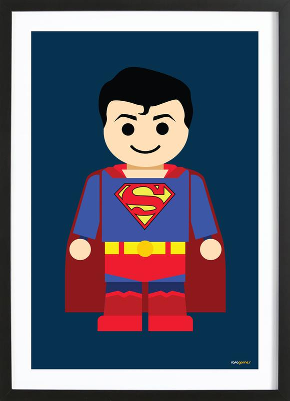 Superman Toy Poster i träram