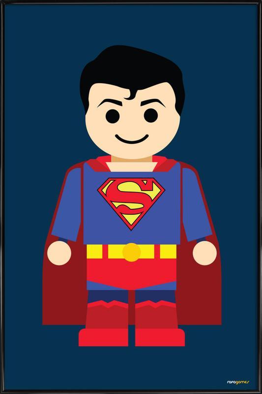 Superman Toy -Bild mit Kunststoffrahmen