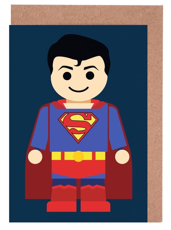 Superman Toy -Grußkarten-Set