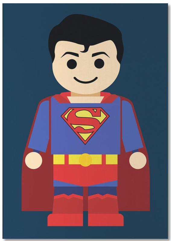 Kinderzimmer & Kunst für Kinder, Superman, Superman Toy -Notizblock