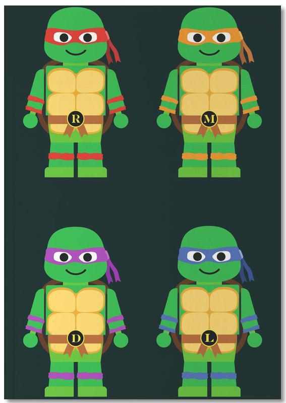 Kinderzimmer & Kunst für Kinder, Teenage Mutant Ninja Turtles Notebook
