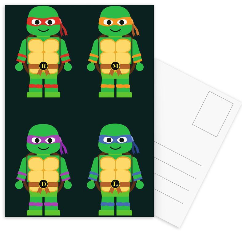 Nursery & Art for Kids, Teenage Mutant Ninja Turtles Postcard Set