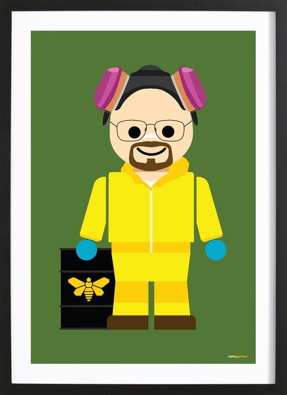 Walter White Heisenberg Toy Framed Print
