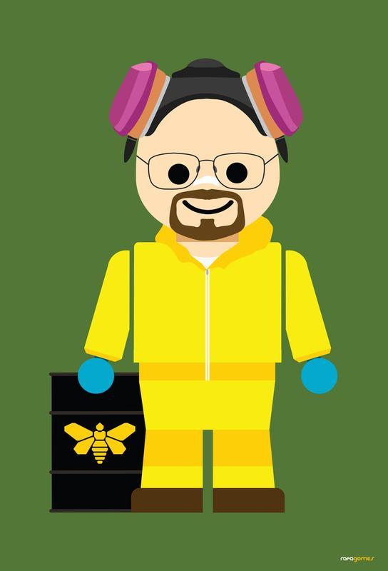 Walter White Heisenberg Toy alu dibond