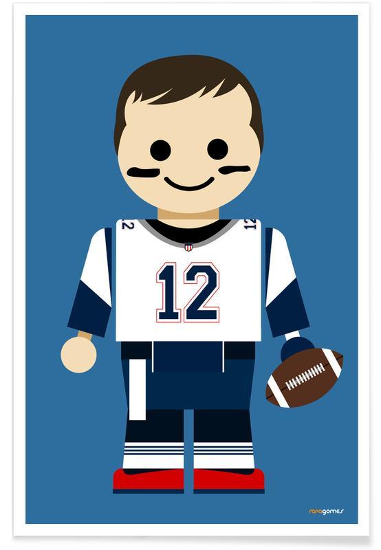 Nursery & Art for Kids, Tom Brady Toy Poster