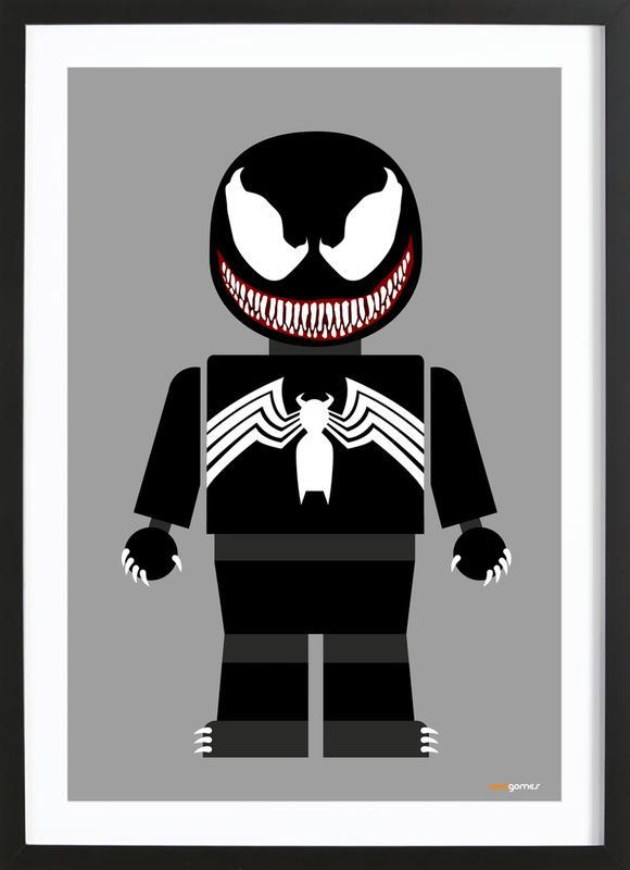 Venom Toy ingelijste print