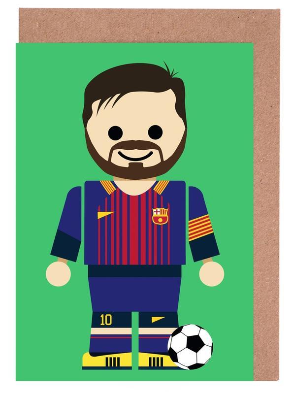 Art pour enfants, Football, Messi Toy cartes de vœux