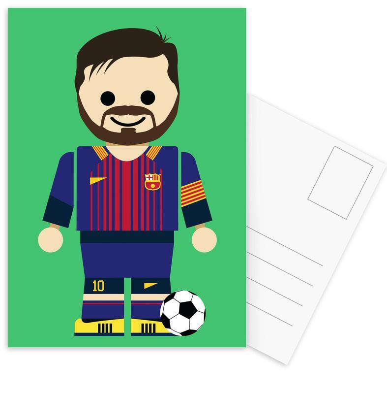 Art pour enfants, Football, Messi Toy cartes postales