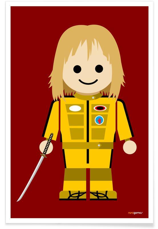 Filme, Kinderzimmer & Kunst für Kinder, Kill Bill Toy -Poster