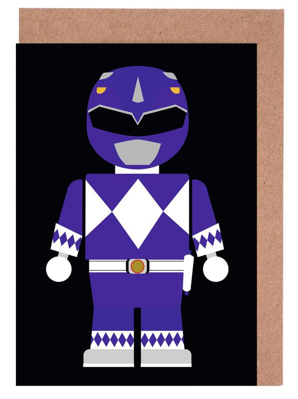 Power Ranger Toy Blue Greeting Card Set
