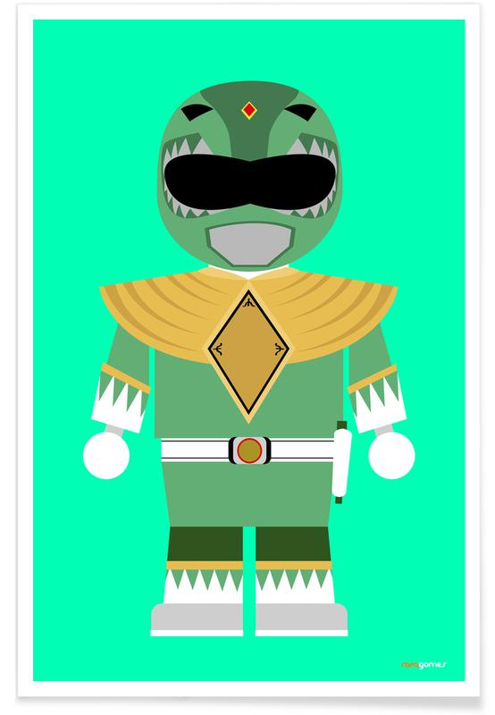 Filme, Kinderzimmer & Kunst für Kinder, Power Ranger Toy Green -Poster