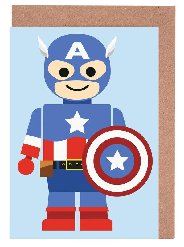 Captain America Toy Greeting Card Set