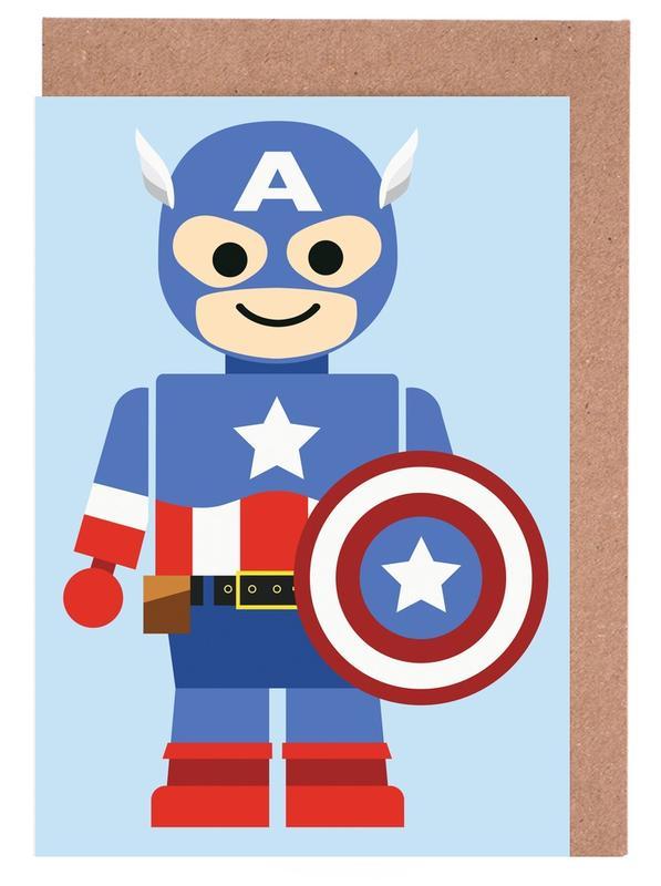 Captain America, Kunst voor kinderen, Captain America Toy wenskaartenset