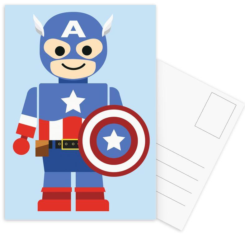 Captain America, Nursery & Art for Kids, Captain America Toy Postcard Set