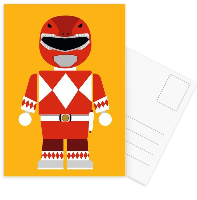 Movies, Nursery & Art for Kids, Power Ranger Toy Red Postcard Set