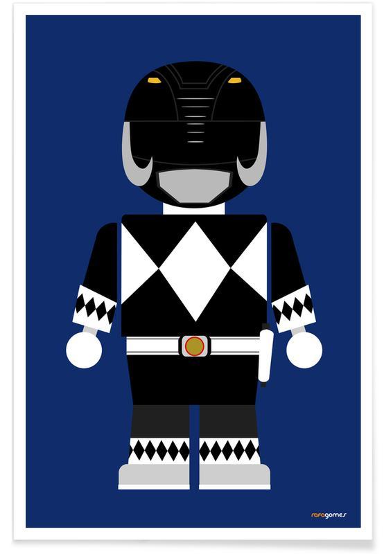 Films, Kunst voor kinderen, Power Ranger Toy Black poster