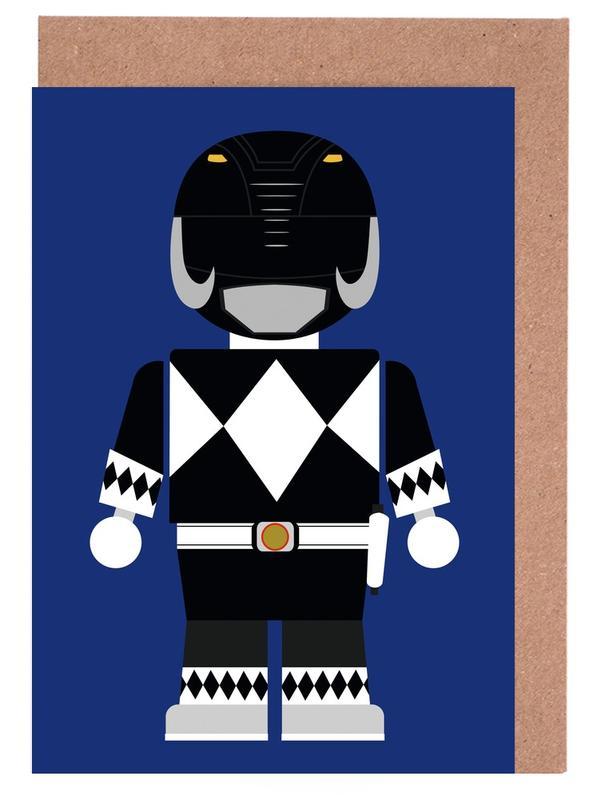 Films, Art pour enfants, Power Ranger Toy Black cartes de vœux