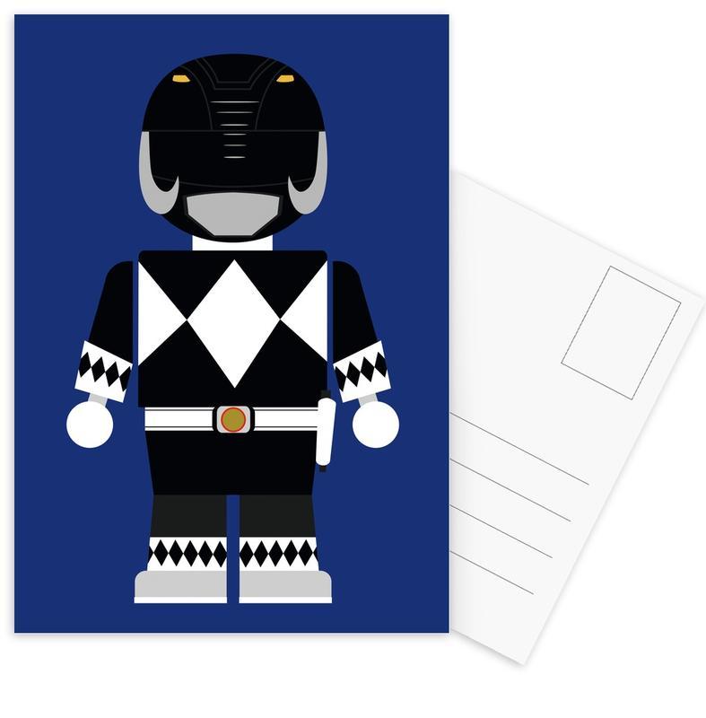Movies, Nursery & Art for Kids, Power Ranger Toy Black Postcard Set