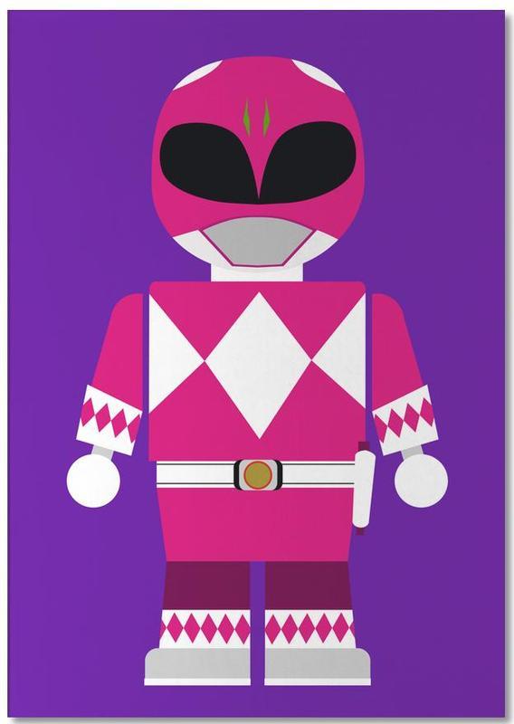 Filme, Kinderzimmer & Kunst für Kinder, Power Ranger Toy Pink -Notizblock