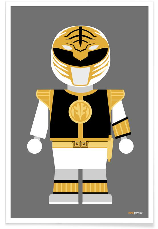 Films, Kunst voor kinderen, Power Ranger Toy White poster