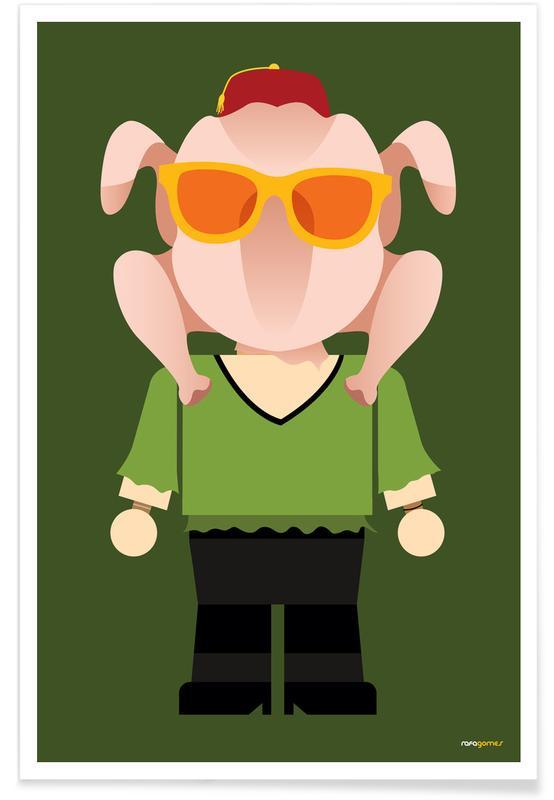 Monica Geller Toy -Poster