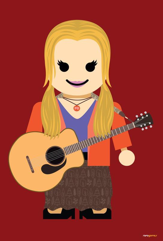 Phoebe Buffay Toy alu dibond