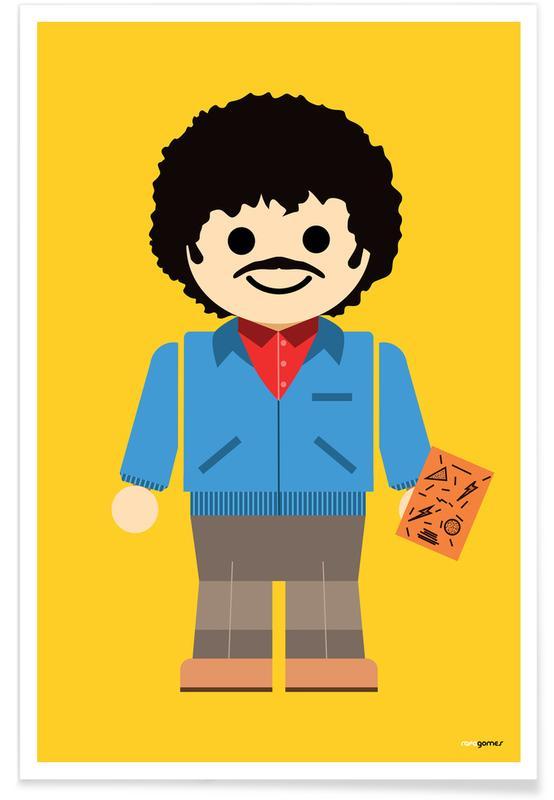 Ross Geller Toy Poster