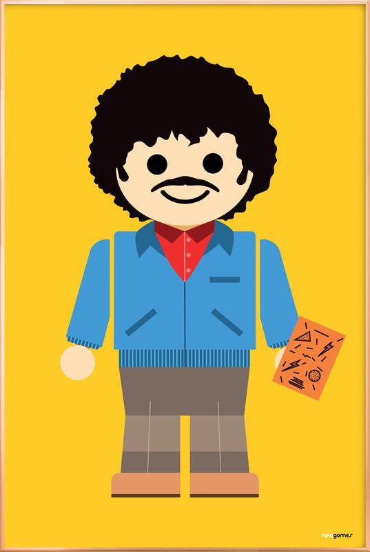 Ross Geller Toy poster in aluminium lijst