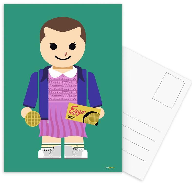 Kunst voor kinderen, Tv-series, Eleven Toy ansichtkaartenset