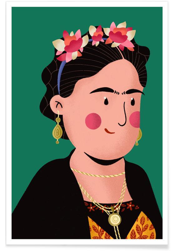 , Frida Kahlo Portrait affiche