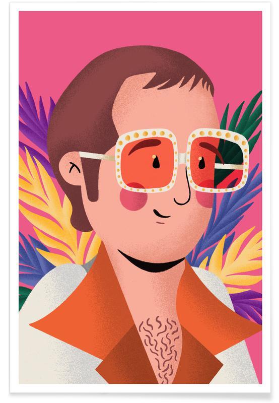 , Elton John Portrait affiche