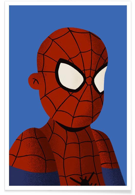 Art pour enfants, Captain America, Superman, Batman, Spider-Man, Iron Man, Spiderman Portrait affiche