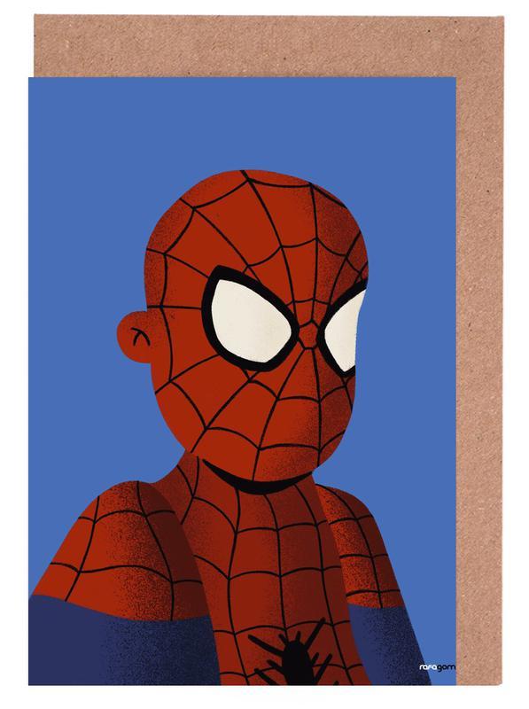 Captain America, Kunst voor kinderen, Batman, Superman, Spider-Man, Iron Man, Spiderman Portrait wenskaartenset