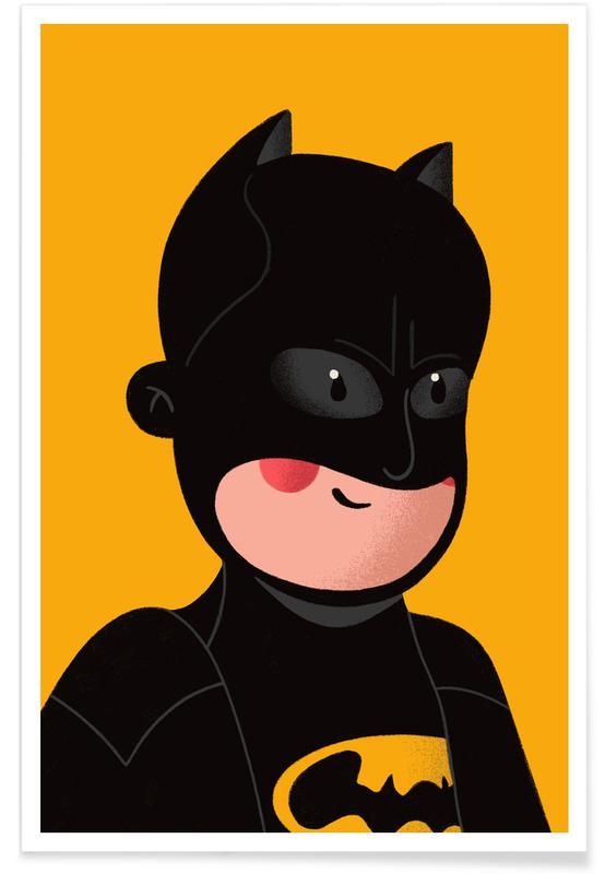 Art pour enfants, Captain America, Superman, Batman, Spider-Man, Iron Man, Batman Portrait affiche