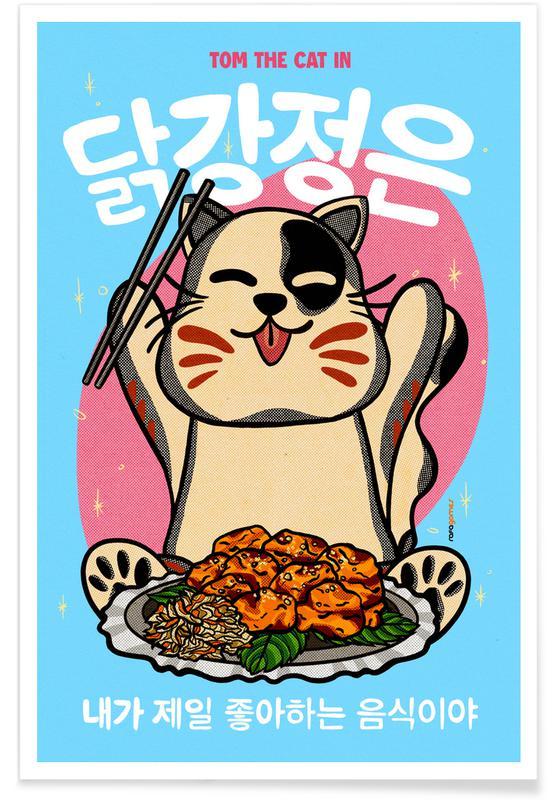 Japanisch inspiriert, Korean Fried Chicken -Poster