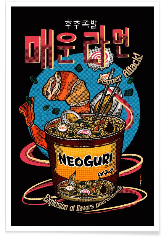 Japanese Inspired, Spicy Noodles Poster