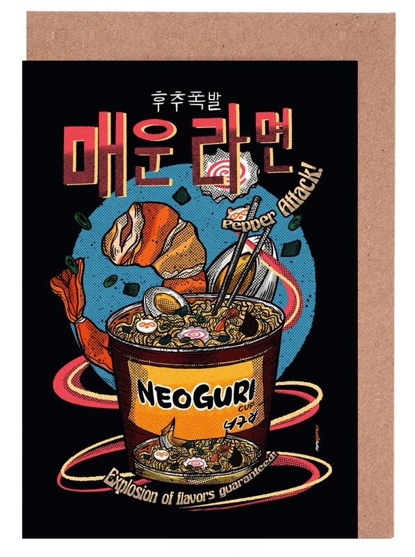 Japans geïnspireerd, Spicy Noodles wenskaartenset